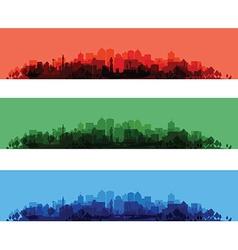 cityscape overprint vector image