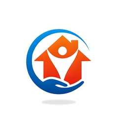 Home care protection logo vector