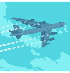 Heavy bomber in the sky vector