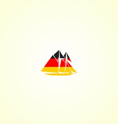 Clippers silhouette in colour of german flag vector