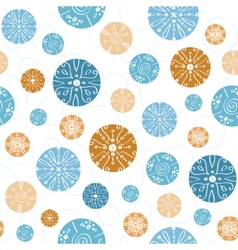 Abstract blue brown vintage circles vector
