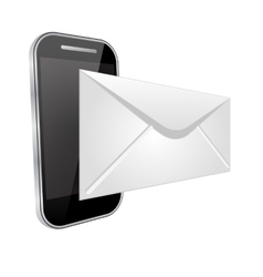 Send an email by phone vector