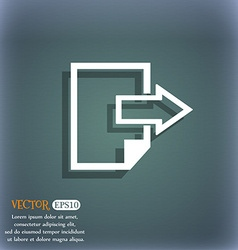 Export file icon file document symbol on the vector
