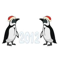 emperor penguins 2012 vector image