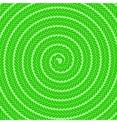 Abstract green spiral pattern vector