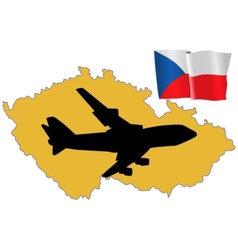 Fly me to the czech republic vector