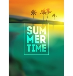 Sunset blurred background with typography text - vector