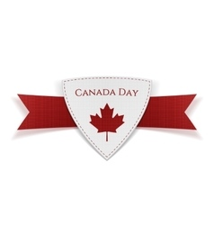 Canada day festive red banner vector