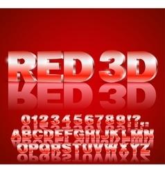 alphabet font vector image vector image