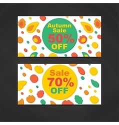 Autumn Sale Banners vector image