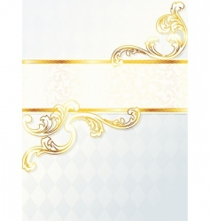 beautiful vertical rococo wedding banner vector image vector image