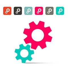 Cogs - Gears Icons vector image vector image