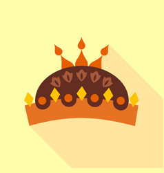 Crown with jewels icon flat style vector