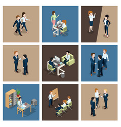 different business situations in office vector image vector image