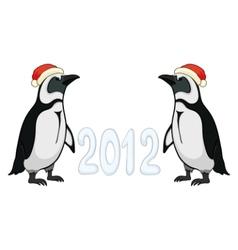 emperor penguins 2012 vector image