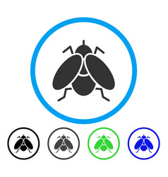Fly rounded icon vector
