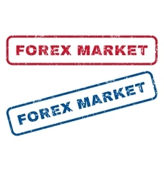 Forex market rubber stamps vector