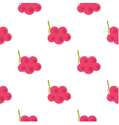 Fresh viburnum branch pattern flat vector