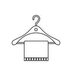 Hanger and towel icon outline style vector image vector image