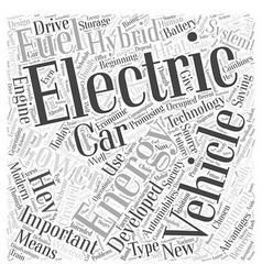 Hybrid electric car word cloud concept vector