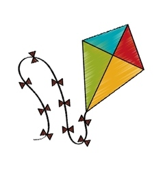 Isolated kite toy design vector image vector image