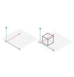 isometric drawing a thirty degreesangle is applied vector image vector image