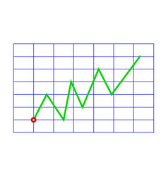 Line graphic on grid vector