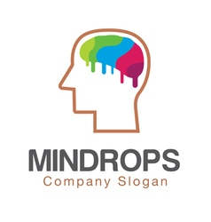 Mind Brain Creative Design vector image