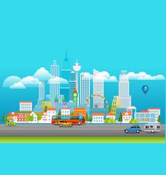 Modern cityscape city panarama with logo vector