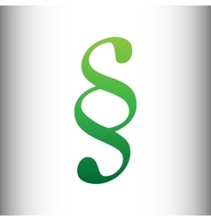 Paragraph sign green gradient icon vector