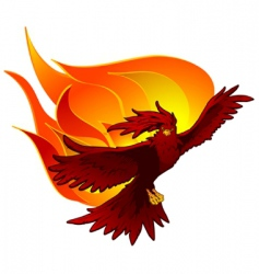 phoenix in flight vector image vector image