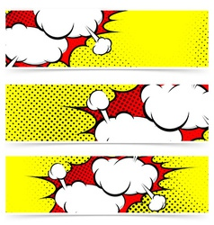 Retro comic style explosion collision flyer vector image