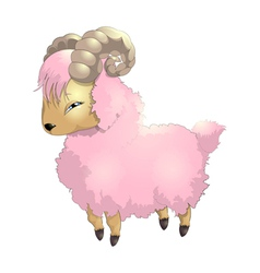 Sheep pink vector
