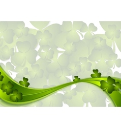 St Patricks Day green wave background vector image vector image