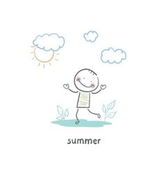 summer walk vector image vector image