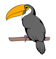 toucan icon cartoon vector image