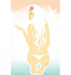 tropic women vector image vector image