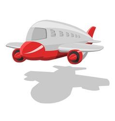 vector cartoon airplane vector image