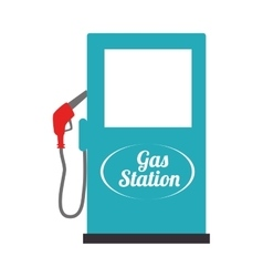 Gas station industry icon vector