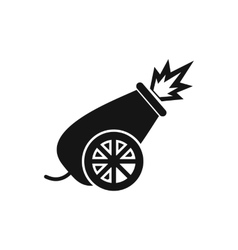 Circus cannon icon simple style vector image
