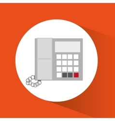 Phone of office and work design vector image