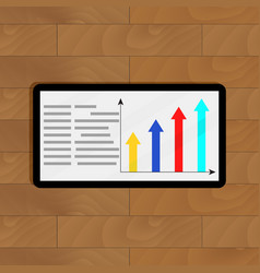 Info with growth arrow chart vector
