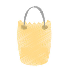 drawing bag gift delivery vector image