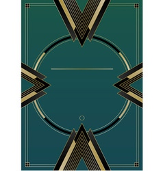 Arrows art deco background vector