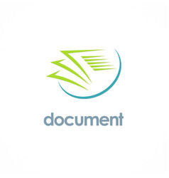 Document paper office logo vector