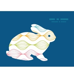 Colorful horizontal ogee bunny rabbit vector