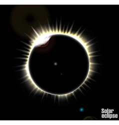 Solar eclipse vector image