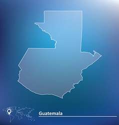 Map of guatemala vector