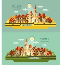 Farm in the village set of elements - house vector