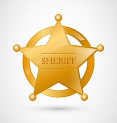Gold sheriff badge vector